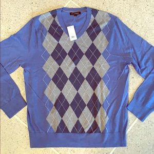 Banana Republic Argyle Sweater NWT